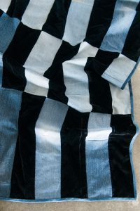 Black & Blue (quilt for a single person) [detail]